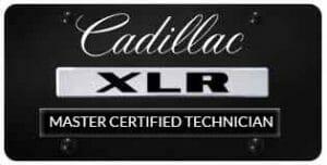 Cadillac XLR Master technician badge